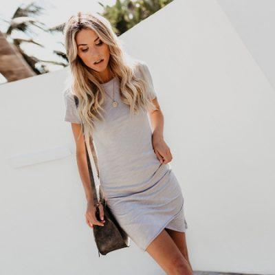 4807dd57e1c Baige-Cotton-Ruched-Dress-with-Irregular-Hem